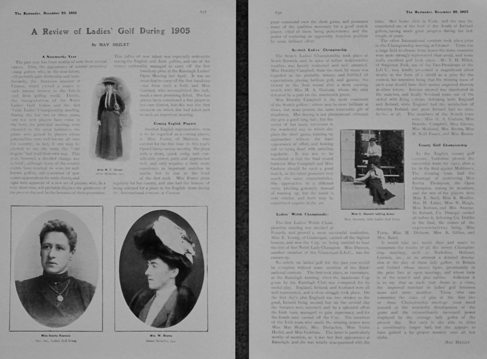 A Review of Ladies' Golf During 1905.