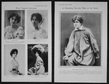 Four Topical Actresses. 1905.