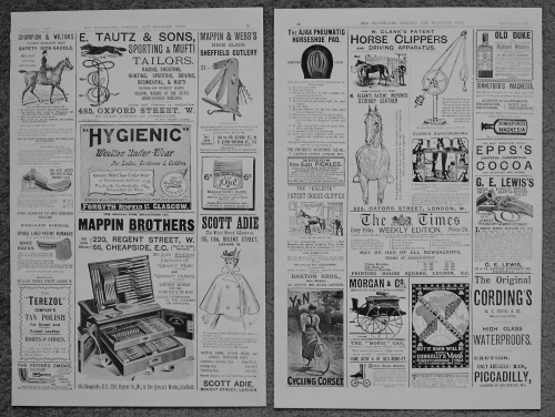 Adverts. (Illustrated Sporting and Dramatic News 1897). 18977
