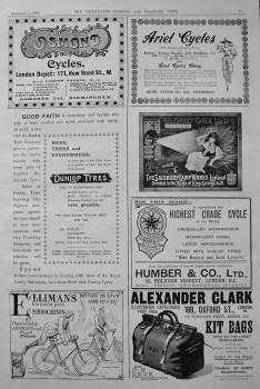 Cycling Adverts. 1897