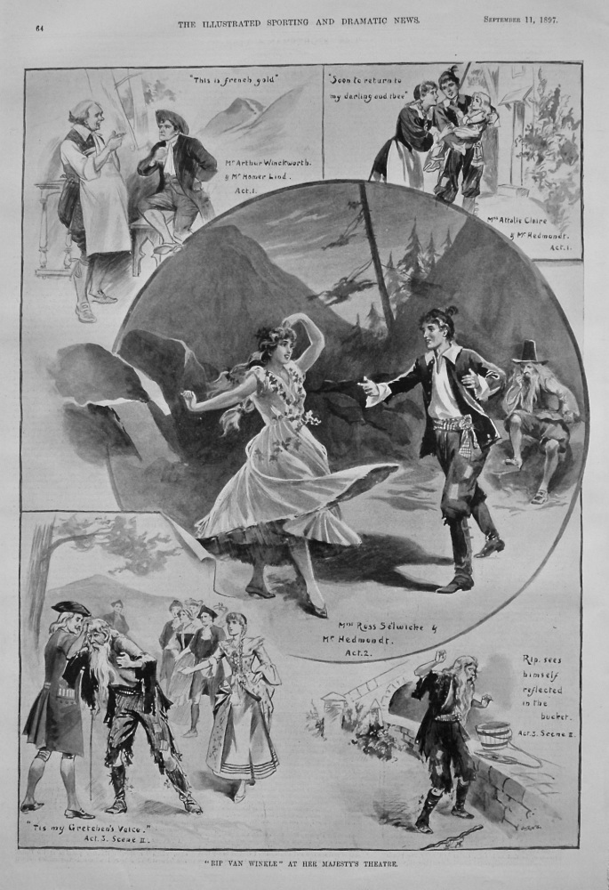 """""""Rip Van Winkle"""" at Her Majesty's Theatre. 1897."""
