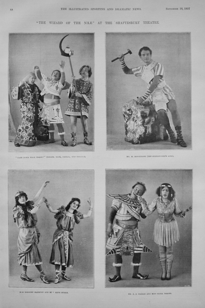 """""""The Wizard of the Nile"""" at the Shaftesbury Theatre. 1897"""