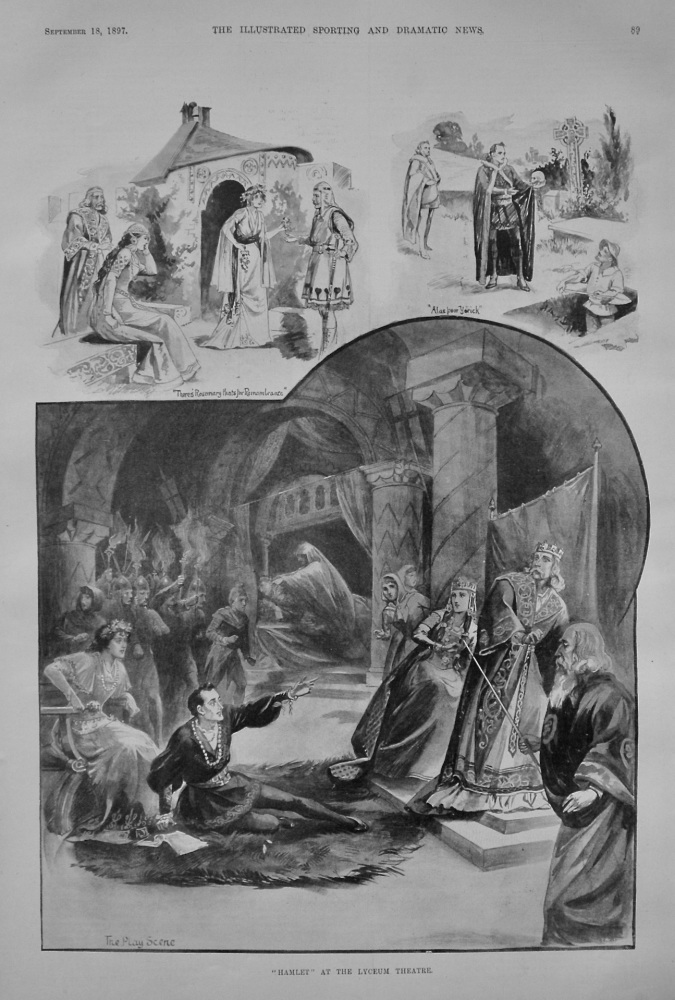 """Hamlet"" at the Lyceum Theatre. 1897."