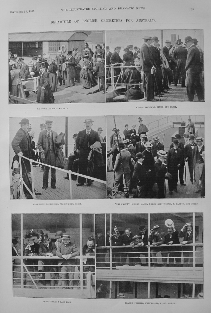 Departure of English Cricketers for Australia. 1897