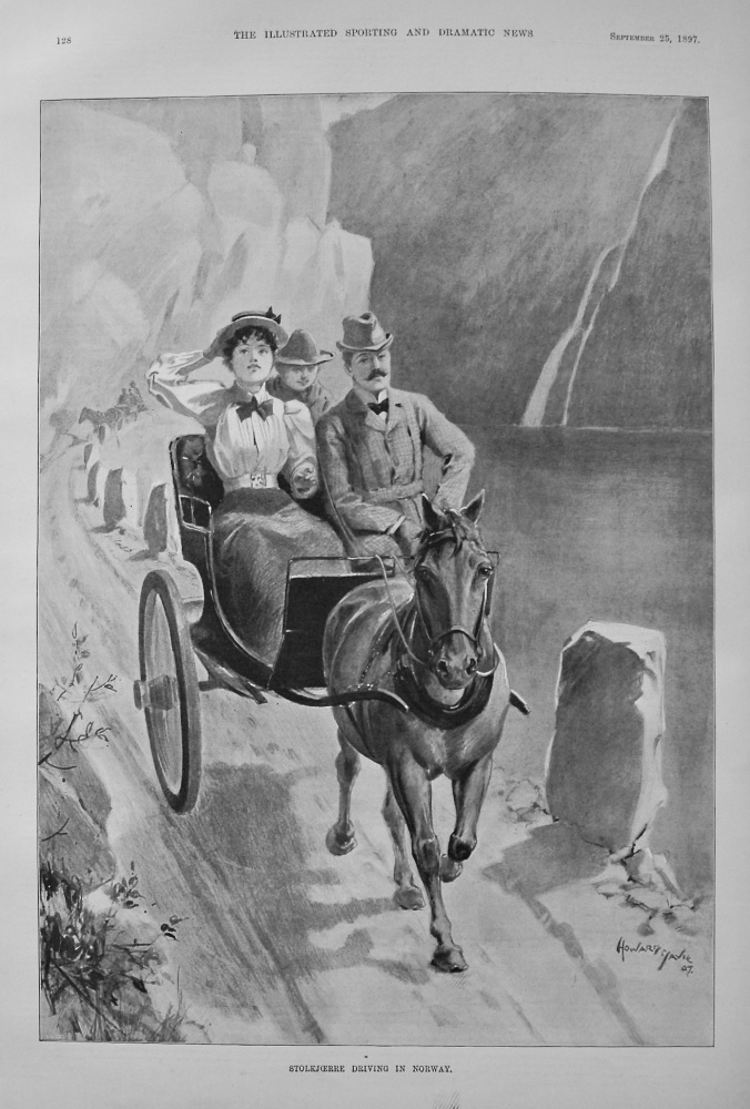 Stolkjoerre Driving in Norway. 1897
