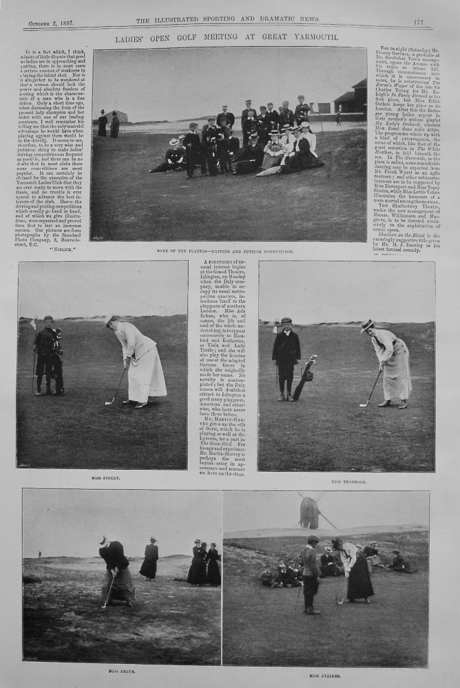 Ladies' Open Golf Meeting at Great Yarmouth. 1897
