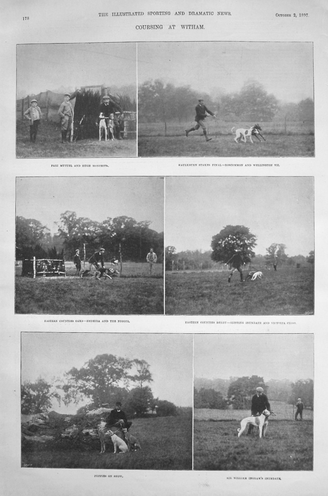 Coursing at Whitham. 1897