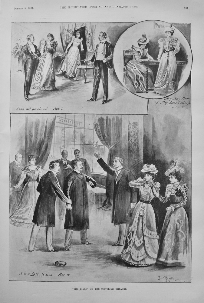 """""""The Liars"""" at the Criterion Theatre. 1897"""