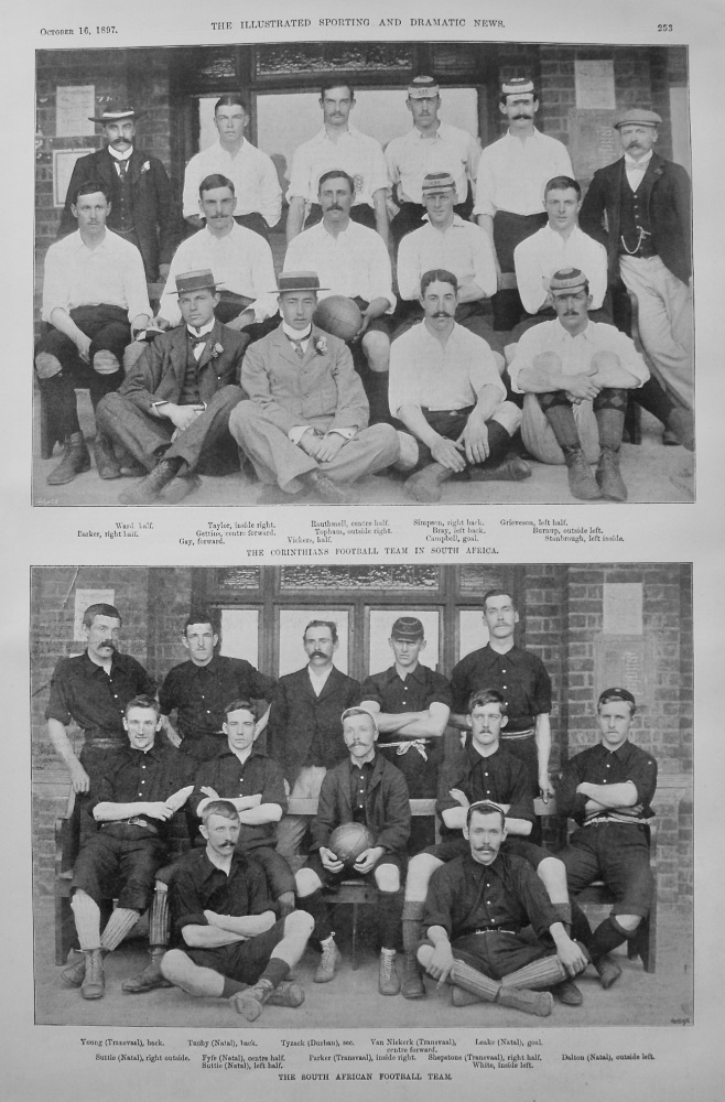 The Corinthians Football Team in South Africa. 1897