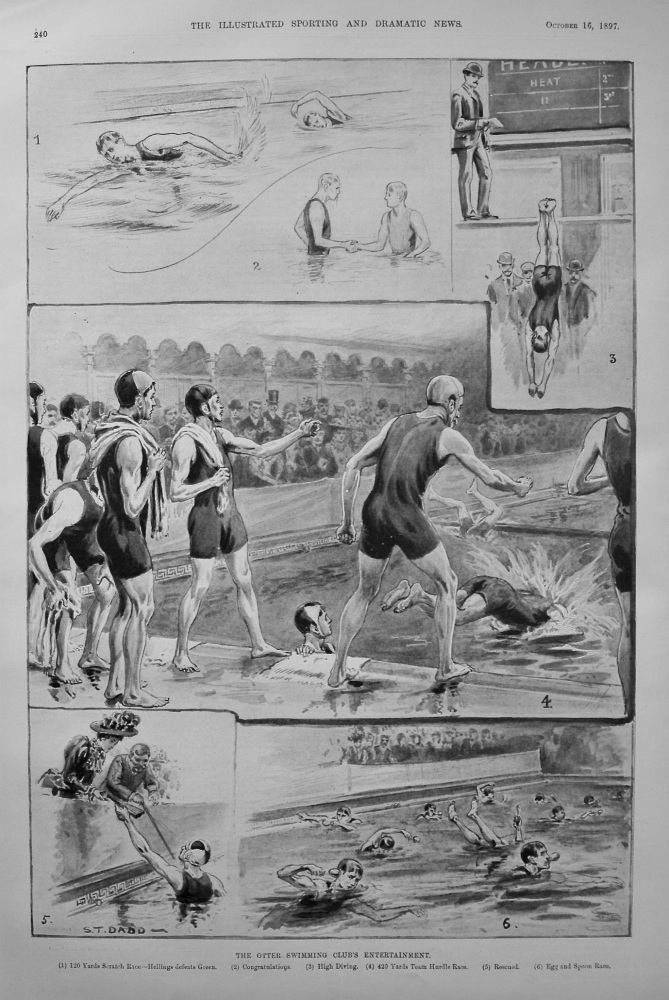 The Otter Swimming Club's Entertainment. 1897