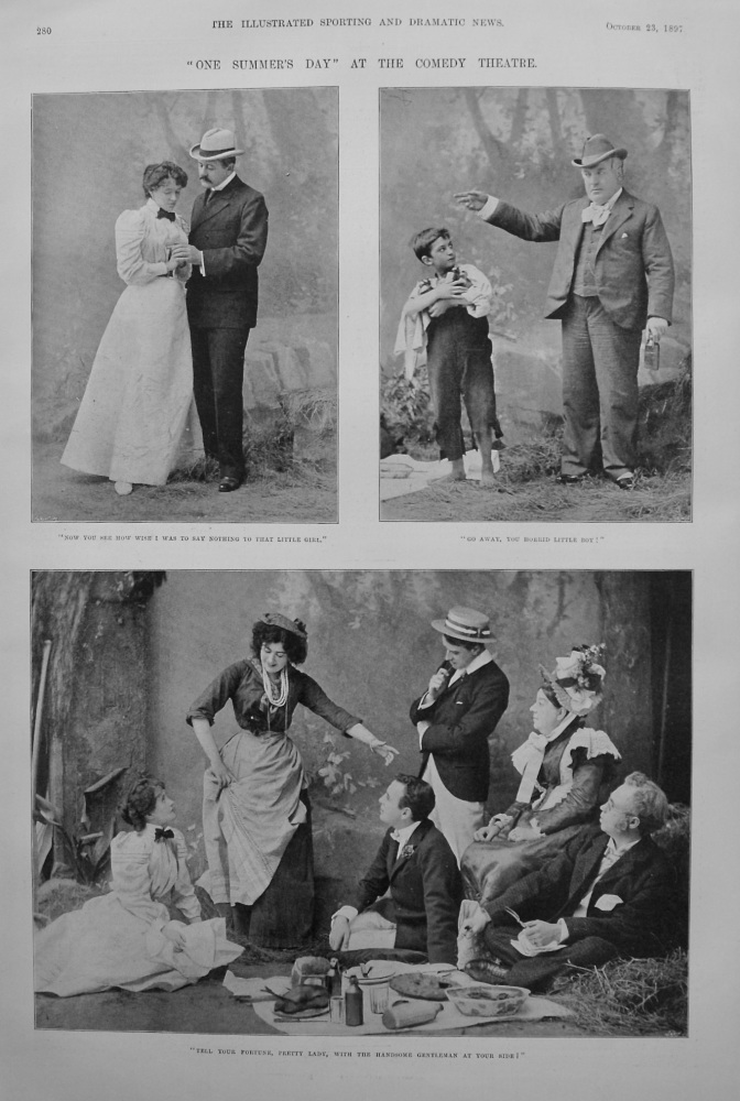 """One Summer's Day"" at the Comedy Theatre. 1897"