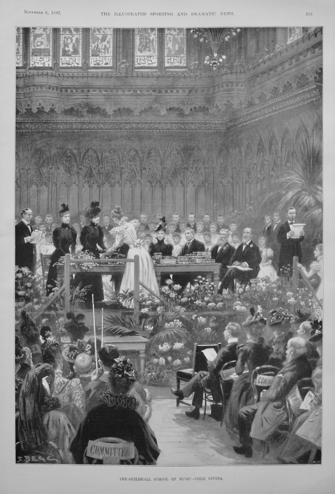 The Guildhall School of Music - Prize Giving. 1897
