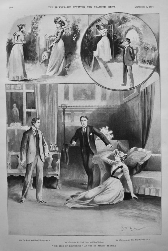 """""""The Tree of Knowledge"""" at the St. James's Theatre. 1897"""