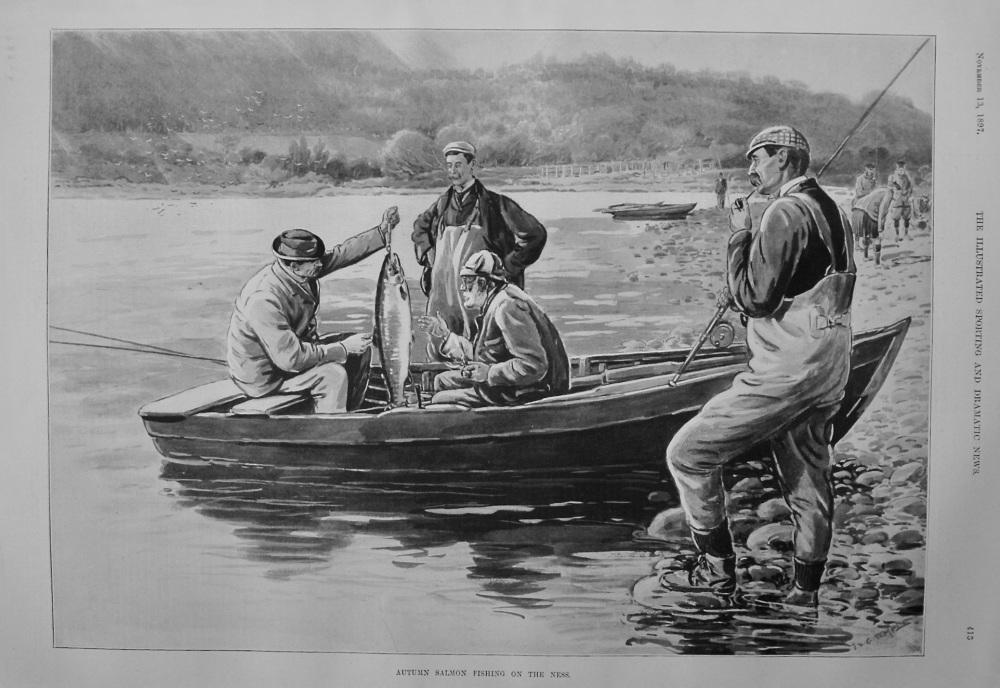Autumn Salmon Fishing on the Ness. 1897