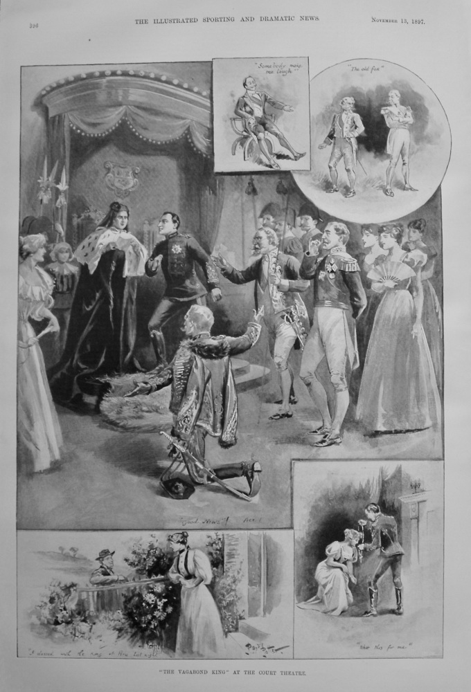 """""""The Vagabond King"""" at the Court Theatre. 1897"""