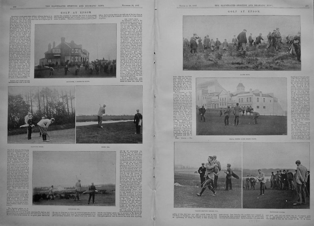 Golf at Epsom. 1897