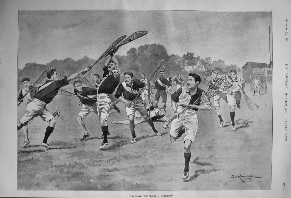 Lacrosse- Woodford v. Surbiton. 1897