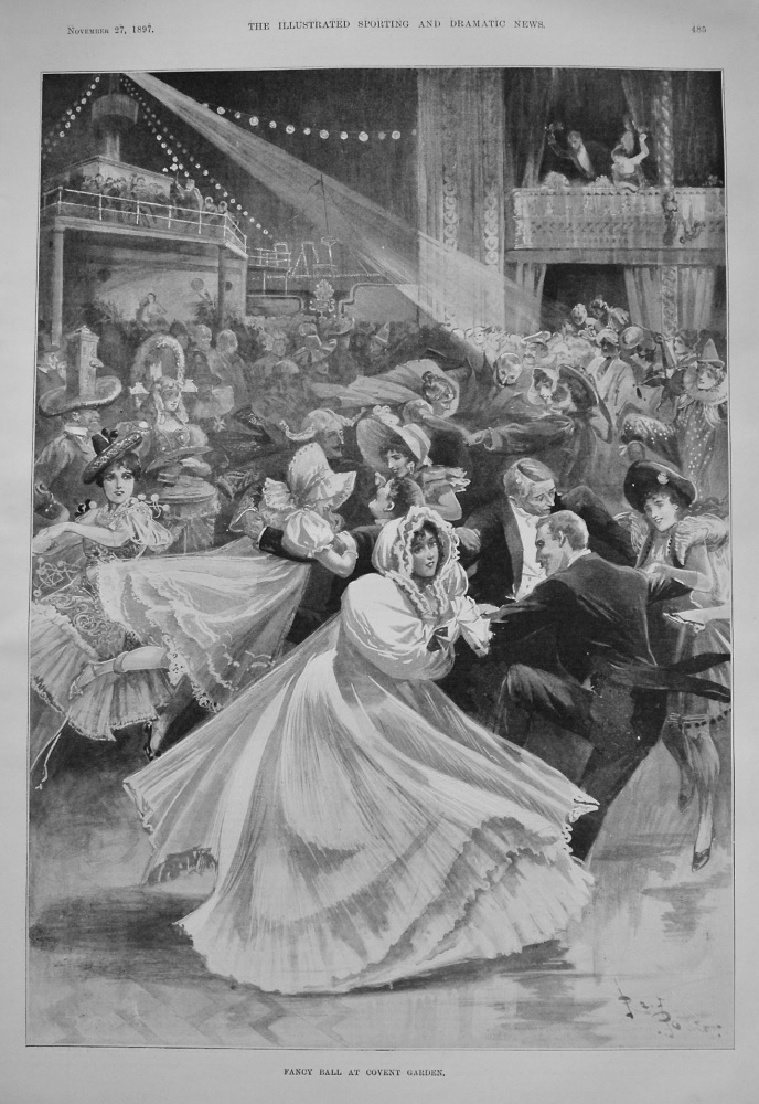 Fancy Ball at Covent Garden. 1897