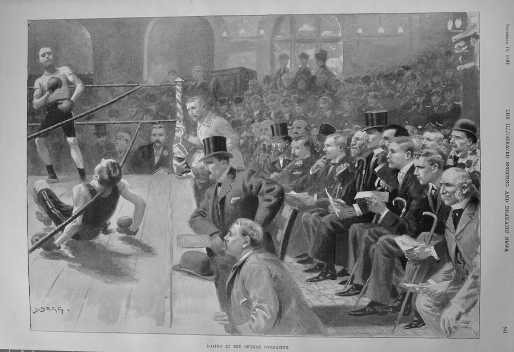 Boxing at the German Gymnasium. 1897.