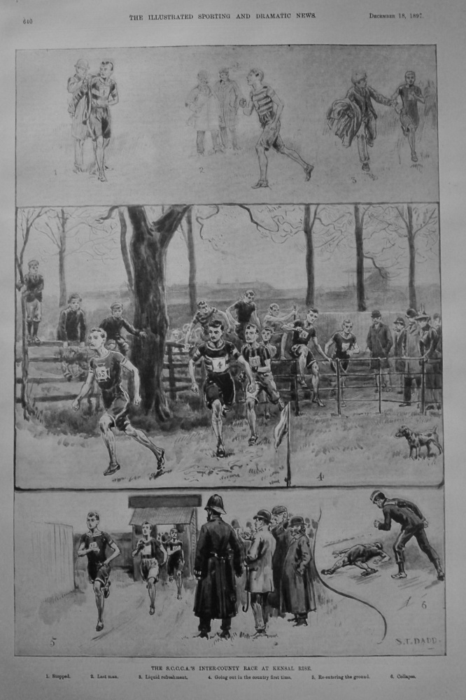 The S.C.C.C.A.'S Inter-County Race at Kensal Rise. 1897.