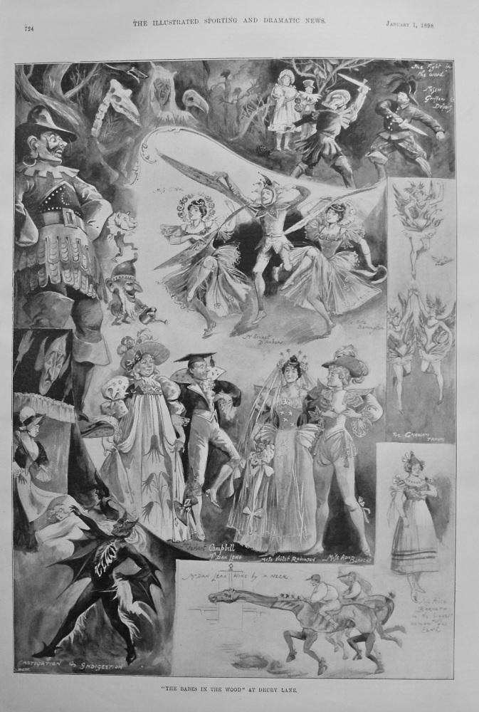 """Babes in the Wood"" at Drury Lane."" 1898"