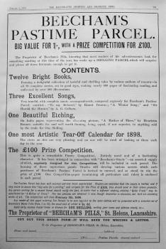Beecham's Pastime Parcel. 1898.