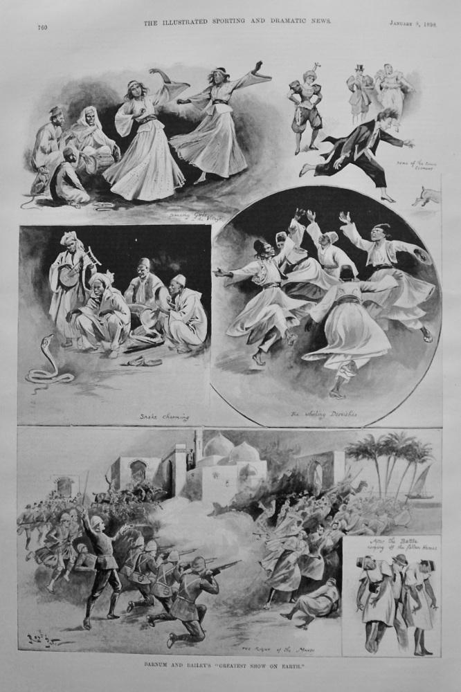 """Barnum and Bailey's """"Greatest Show On Earth."""" 1898."""