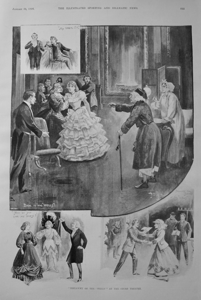 """""""Trelawny of the 'Wells'"""" at the Court Theatre. 1898"""
