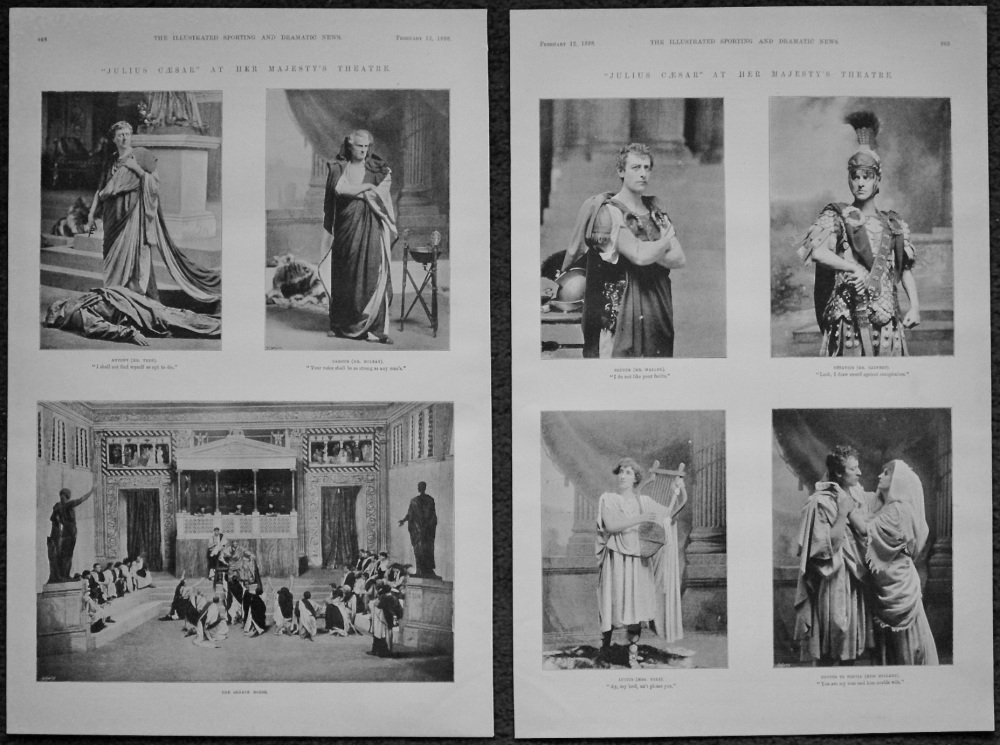 """Julius Caesar"" at Her Majesty's Theatre. 1898"