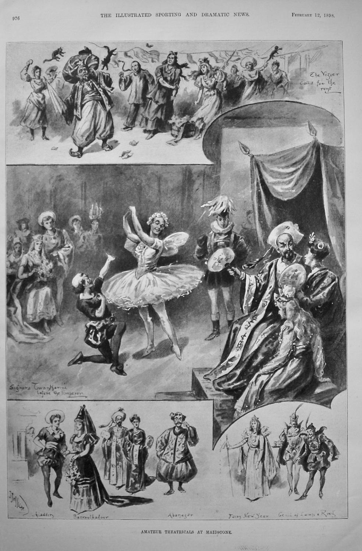 Amateur Theatricals at Maidstone. (Aladdin). 1898