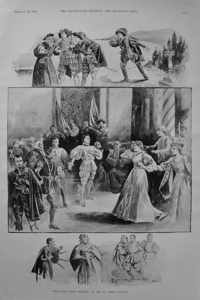 """Much Ado About Nothing"" at the St. James's Theatre. 1898"