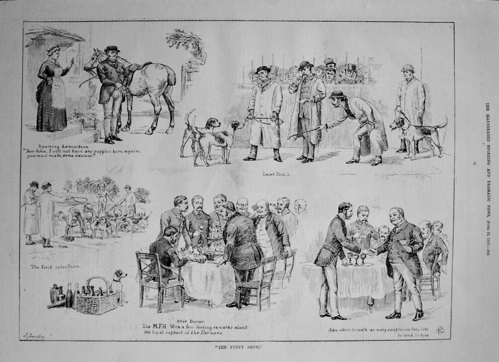 """""""The Puppy Show."""" 1887"""