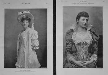 Miss E. Lane-Fox & Miss Annie Hughes. 1893