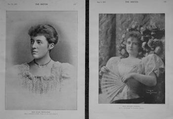 Miss Lilias Borthwick. & Miss Lillian Russell. 1893-4.