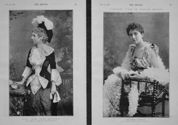 Fancy Dress : Flora Macdonald. & Miss Ethel Matthews. 1893.