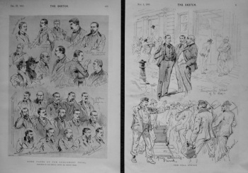 Some Faces at the Ardlamont Trial. & The Coal Strike. 1893.