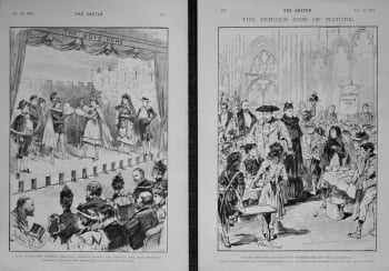 """Miss Kathleen Green's Original Extravaganza """"St. George and the Dragon."""" 1894"""