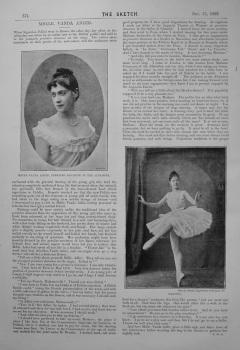Mdlle. Vanda Adler. 1893.