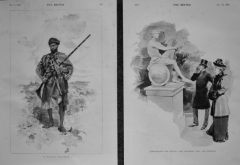 A Riffian Warrior.  &  Comparisons Are Odious : The Warrior, Past and Present. 1893