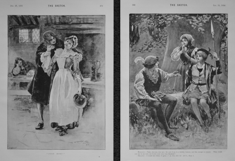 """""""Just One!"""" & """"Rosalind and Orlando."""" 1893-4."""