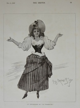 "An Impression of ""La Mascotte."" (Miss Florence St. John.) 1893"