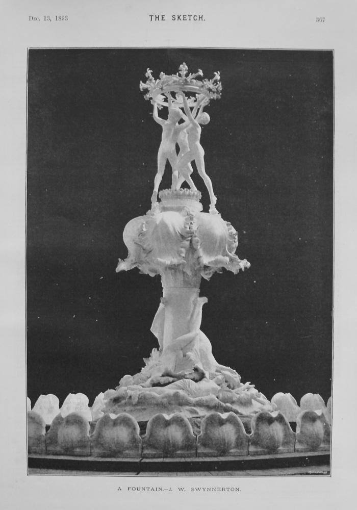 A Fountain.- J. W. Swynnerton. (Sculptor) 1893