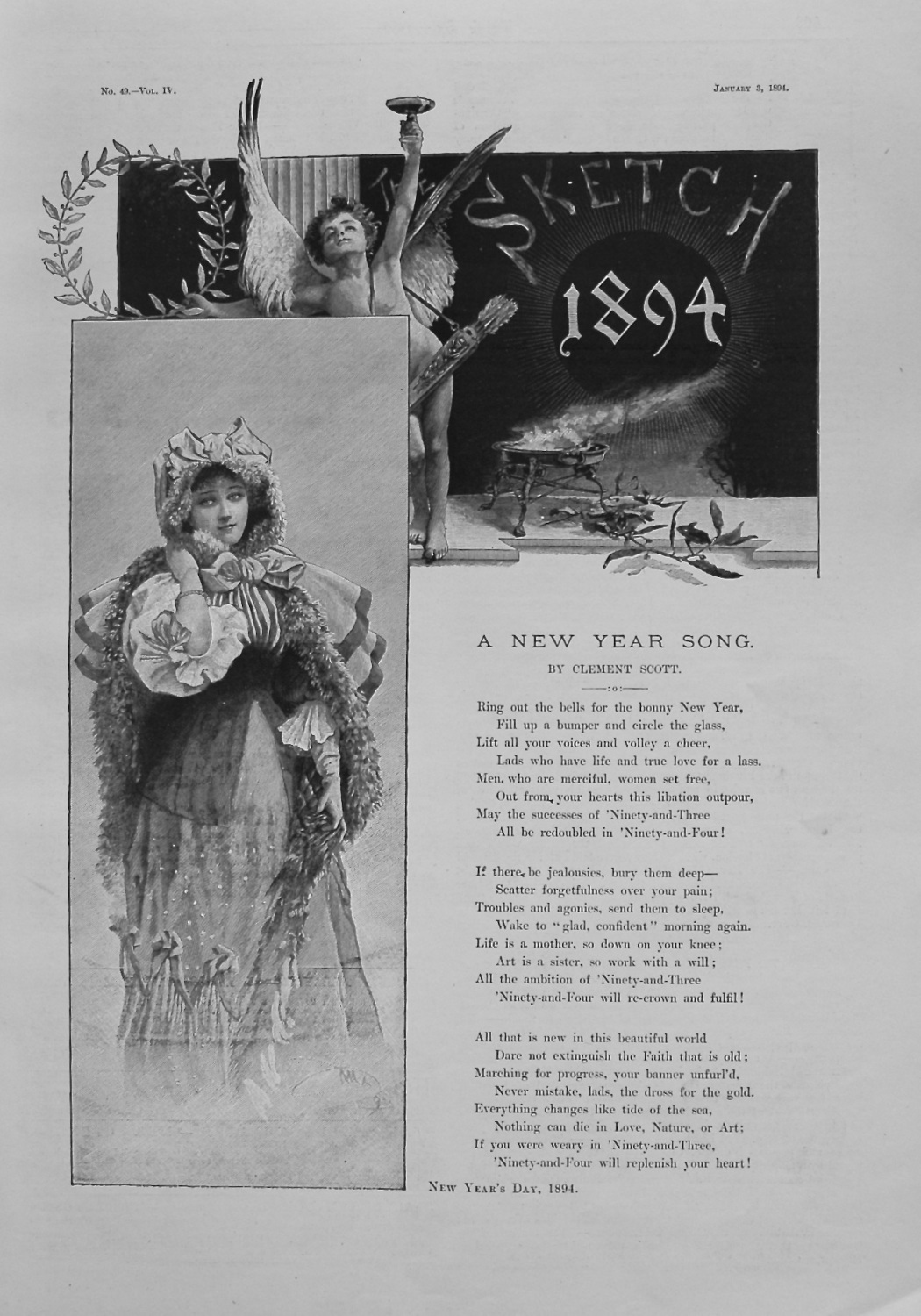 A New Year Song. By Clement Scott. 1894.