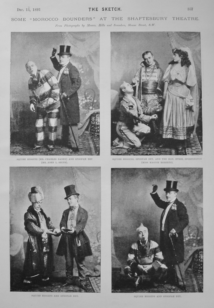 """Some """"Morocco Bounders"""" at the Shaftesbury Theatre. 1893"""