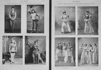 "Girls in ""The Gaiety Girl,"" at the Prince of Wales's Theatre. 1893"