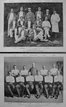 The Hampstead Cricket Team. & The City of Belfast Royal Irish Constabulary Tug-Of-War Team. 1894.