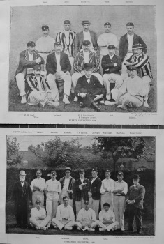 Surrey Cricketers, 1894.  &  Yorkshire Cricketers, 1894.