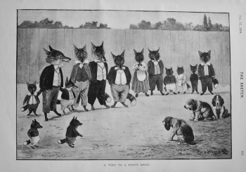 A Visit To A Puppy Show. 1894
