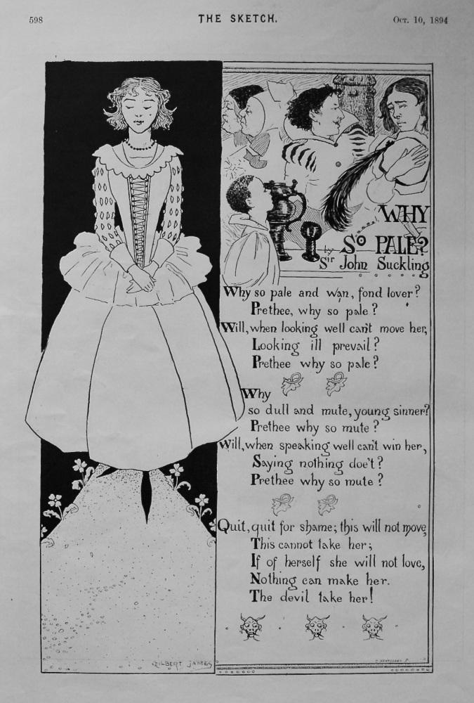 Why So Pale ?. By Sir John Suckling. 1894