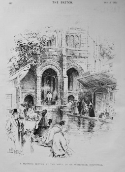 A Morning Service at the Well of St. Winefride, Holywell. 1894